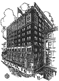 (historical hotel illustration)